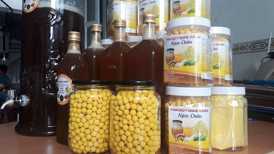 Viên tinh nghệ mật ong